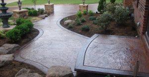 Decorative concrete flatwork installation in Gastonia, North Carolina
